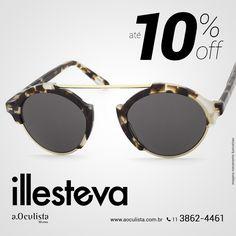 Óculos de Sol Illesteva com até 10% com desconto, corre!  Compre pelo site em até 10x Sem Juros e Frete Grátis nas compras acima de R$400,00 reais. 👉 www.aoculista.com.br/illesteva  #aoculista #illesteva #glasses #sunglasses #eyeglasses #oculos #milan