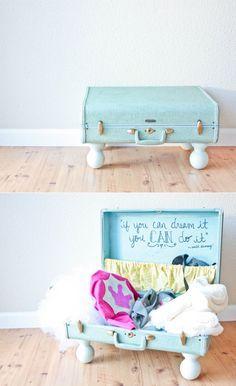 Diy Dress Up Storage . 20 Elegant Diy Dress Up Storage Ideas . Mommo Design In A Suitcase Dress Up Dress Up Clothes Storage, Dress Up Closet, Dress Up Stations, Dress Up Boxes, Old Suitcases, Kids Dress Up, Diy Dress, Diy Storage, Storage Ideas