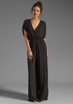 BY MALENE BIRGER Viscose Jersey Tytan Jumpsuit in Black - Black