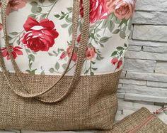 Rag Quilting Purse New Ideas Jute Tote Bags, Reusable Tote Bags, Bag Patterns To Sew, Sewing Patterns, Denim Handbags, Diy Handbag, Fabric Bags, Waterproof Fabric, Handmade Bags