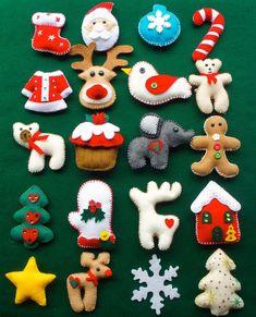Ideas Diy Christmas Ornaments Felt For 2019 Felt Christmas Decorations, Cute Christmas Gifts, Felt Christmas Ornaments, Handmade Christmas, Beaded Ornaments, Handmade Ornaments, Christmas Tree, Glass Ornaments, Felt Crafts