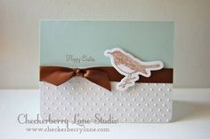 CAS card design using A Muse Studio You're Too Kind stamp set...Happy Easter! http://www.checkerberrylane.com