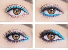 10 SEGRETI PER RENDERE IL VOSTRO MAKEUP DA 'OK' A 'WOW'! 2) La matita colorata in punti strategici. Quante volte vorremmo dare una svolta al nostro trucco perché magari siamo stanche dei soliti colori neutri, marroncini o beige.Le matite colorate servono proprio a questo, soprattutto se le usiamo in modo diverso. Una riga simile all'eyeliner, nella rima interna, nell'angolo più interno dell'occhio o stendendola in maniera più ampia con colori come l'azzurro, il blu, il viola e il verde.
