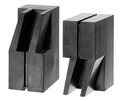 Quote/ Unquote Bookends by Eric Janssen: Concrete core with synthetic rubber exterior. $99.