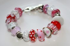 Red and White Trollbeads