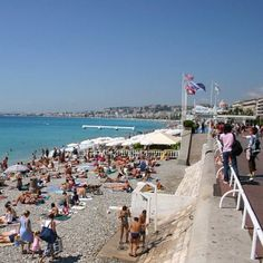 Nice's famous rocky beach overlooked by Promenade des Anglais #nice #france..my absolute fav!!