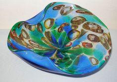 PHENOMENALLY Dazzling MURANO Opalescent MURRINES Glass BOWL Mid Century MODERN