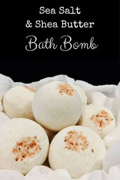 Sea Salt & Shea Butter Bath Bomb
