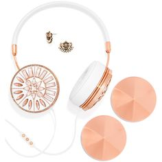 BaubleBar FRENDS x BaubleBar Kaleidoscope Taylor Headphones Set ($235) ❤ liked on Polyvore featuring accessories, tech accessories, electronics, headphones, ear bud headphone, zipper headphones, sparkly headphones, metallic headphones and zip headphones