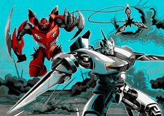 Sideswipe y Dino/Mirage #Autobots #Transformers Imagen de Google