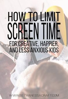 Parenting: How To Limit Screen Time for Happier and Less Anxious Kids #parentingtips #parenting #screentime #ipads #parentingadvice Parenting Advice, Kids And Parenting, Parenting Classes, Parenting Styles, Natural Parenting, Foster Parenting, Parenting Quotes, Parenting Websites, Practical Parenting