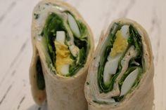 Heute mal wieder mit etwas vegetarischen, denn es gibt einen vegetarischen Wrap mit Ei und Salat.