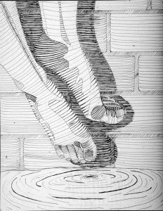 A cross-contour drawing uses lines that seem to move along the surface of the objects in the composition. These lines emphasize the volume of the objects by wrapping around them. Cross Contour Line Drawing, Ap Drawing, Painting & Drawing, Contour Drawings, Gesture Drawing, Contour Line Art, Shoe Drawing, Illustrations, Illustration Art
