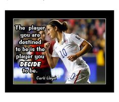 Motivational Wall Art, Inspirational Wall Art, Carli Lloyd, Soccer Motivation, Soccer Inspiration, Birthday Wall, Soccer Poster, Soccer Quotes, Confidence Building