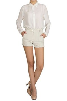 Hipsteration Womens Solid Color Essential Short White, L Hipsteration http://www.amazon.com/dp/B01ANMV8UU/ref=cm_sw_r_pi_dp_y3eOwb0CXW3X3
