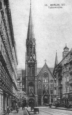 Berlin Kreuzberg, Wrangelstrasse mit Taborkirche, 1906