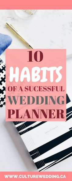 10 Habits of a Successful Wedding Planner - start a wedding business have<br> habits of a successful wedding planner: She is organized, invests in her education, takes care of herself physically and financially. Wedding Planner Office, Wedding Planning Notebook, Wedding Planner Binder, Planner Tips, Best Wedding Planner, Wedding Planners, Planner Book, Wedding Ceremony Ideas, Wedding Events