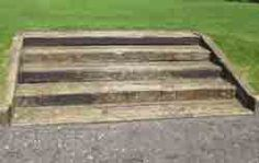 Photograph of an example of steps made from reclaimed sleepers
