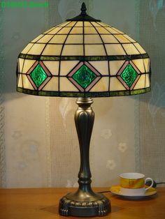 Grid Tiffany Lamp 16S9-49T246