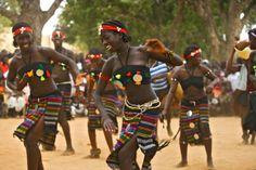 Mujeres danzando en Guinea Bissau