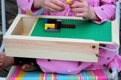 Small Portable Lego Travel Toy Storage Box and by ruthie050573, $22.50