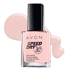 Dries in less than 30 seconds! Makes nails feel rock hard! This fast-drying formula contains Avon's Flash Dry Technology, a unique blend of quick-drying ingredients, and Volcanic Rock. The customized flat brush allows the formula to glide on smoothly and evenly without streaking.  No formaldehyde, toluene or DBP. .4 fl. oz.  http://www.youravon.com/avon