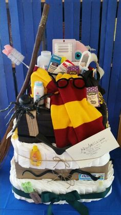 Harry potter diaper cake!