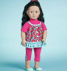 """M6370  Doll Clothes for 18"""" Dolls"""