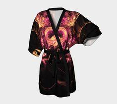 Bridesmaid Robes, Brides And Bridesmaids, Pink And Gold, Black Gold, Black Kimono, Bridal Robes, Chiffon Fabric, Clothing Items, Etsy Handmade
