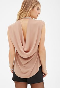 $22 Rhinestoned-Collar Crepe Top | FOREVER21 - 2000081630