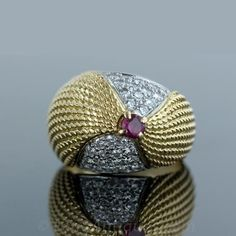 Cartier ruby and diamond gold ring