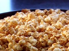 Neely's BBQ Popcorn Recipe : Patrick and Gina Neely : Recipes : Food Network Spicy Popcorn, Popcorn Snacks, Flavored Popcorn, Popcorn Recipes, Popcorn Bowl, Homemade Popcorn, Pop Popcorn, Appetizers For Party, Appetizer Recipes