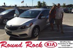 https://flic.kr/p/JM2jeF | Happy Anniversary to Rick on your #Kia #Forte from pedro vazquez at Round Rock Kia! | deliverymaxx.com/DealerReviews.aspx?DealerCode=K449