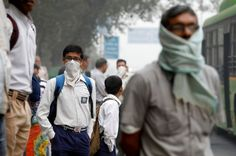 Delhi's air pollution is triggering a health crisis- Last week, a six-year-old boy returned home from school in Delhi, fidgety and complaining of breathlessness.