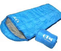 CTM Camping HikingTravel Sleeping Bag Quilt Sping Summer Fall Outdoor Light Blue