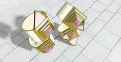 3D modeling and rendering of a bracelet with a compartment for mirror and lip gloss. Design by Giada Falcone  http://www.giovannigasco.com/portfolio/cheope-bangle/