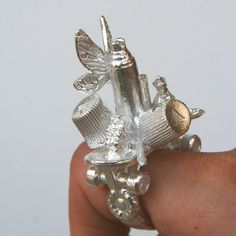 Rebecca Rose  Ring: Inspiring Left 2011  Silver