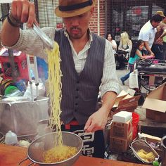 "@thequeenskickshaw's photo: ""A dapper young gentleman with your ramen? At the Japan Street Fair in Astoria."""