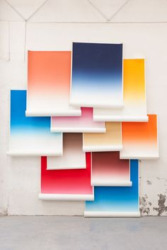 Love these ombre art pieces | Contemporary Art Studio