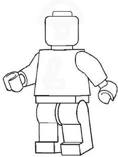 lego man worker coloring pages | lego man template Gallery | MAKERS VBS 2017 | Lego blocks ...