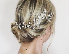 bridal wedding headpiece bridal hair accessory by JoannaReedBridal
