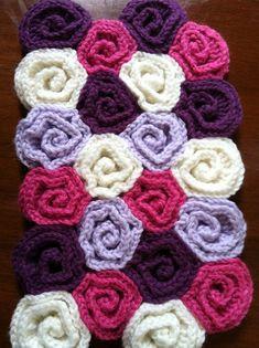 Ravelry: padrão Blanket Rose Campo bebê por Tanya Sh