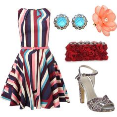 Playful Stripes, created by leiastyle on Polyvore