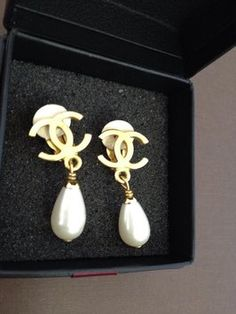 Authentic Chanel Earring Get The Lowest Price On And Other Fabulous Designer Clothing Accessories Tradesy Now