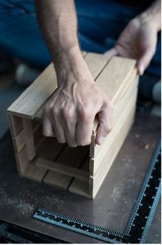 How to: Make a Vintage-Inspired Shipping Crate... Perfect for a Bottle of Whiskey | Man Made DIY | Crafts for Men | Keywords: crate, diy, woodworking, wood