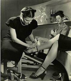 Shoe shopping, 1945