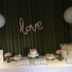 Love Balloon Decoration in Rose Gold Love Balloon, Balloon Banner, Balloon Decorations, Engagement Party Decorations, Etsy App, Creative Business, Script, Party Supplies, Bridal Shower