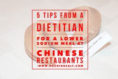 Lower sodium meal at Chinese restaurants