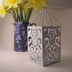 lovebird wedding candle lantern - just add a votive