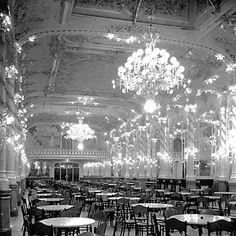 """Cafè Novedades"" , Barcelona, Catalonia, 1904. Caspe Street . Reformed by Josep Carrera . ( Foto: Arxiu Mas )"